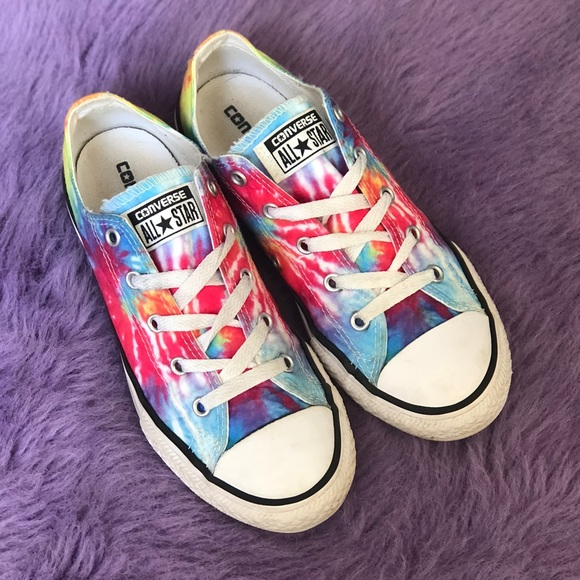 Converse Other - Rainbow Tie Dye Converse Chuck Taylor Youth Size 3 4df777707